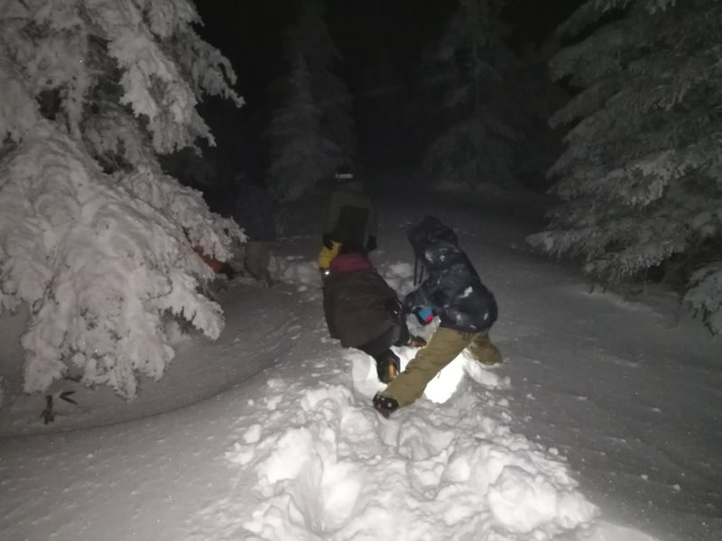 横手山頂ヒュッテの初詣