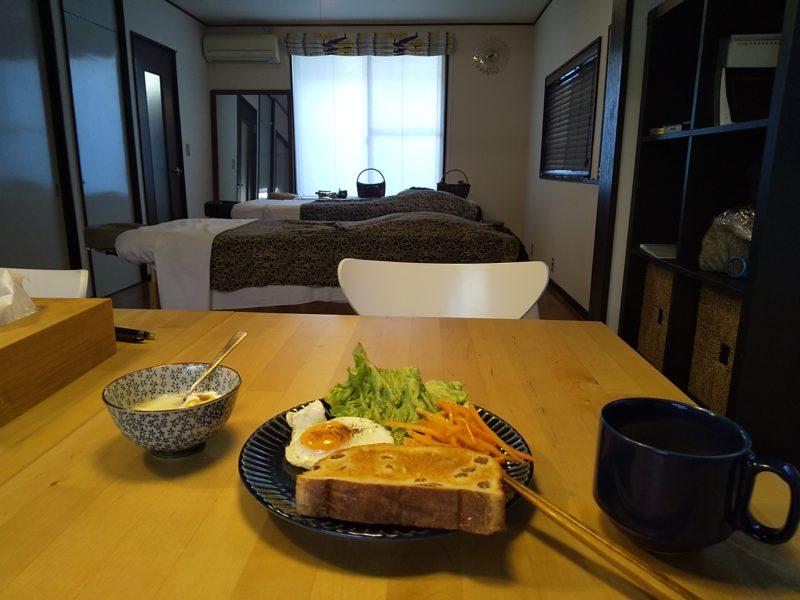 セラピスト合宿の朝食