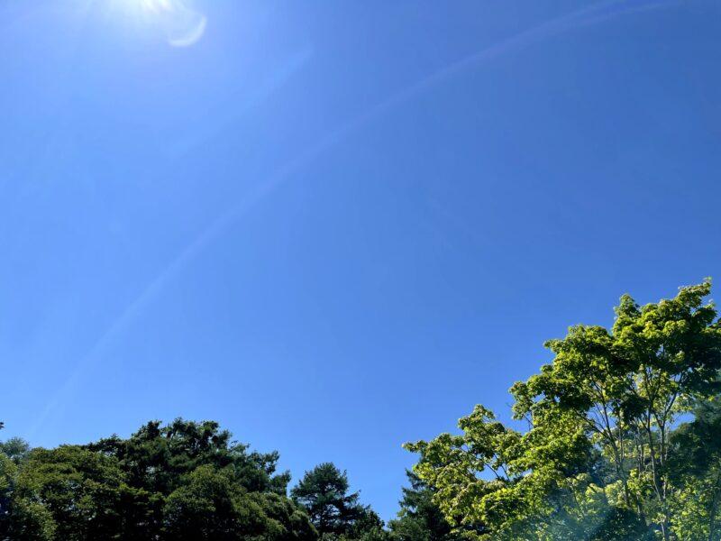 軽井沢星野エリアの夏空