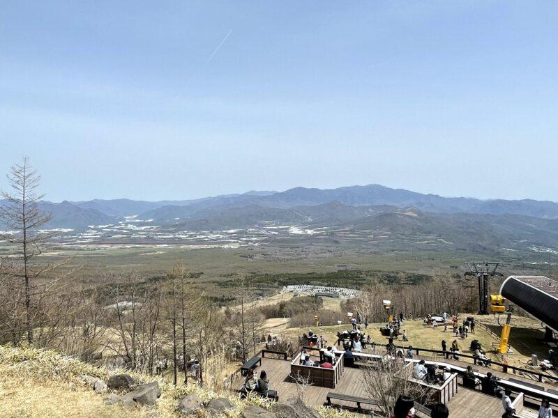 春先の清里テラスからの景色